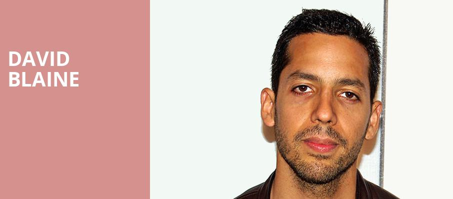 David Blaine, Peoria Civic Center Theatre, Peoria